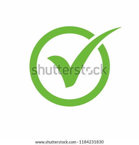 Check mark icon symbols vector.  symbol for website Computer and mobile vector.