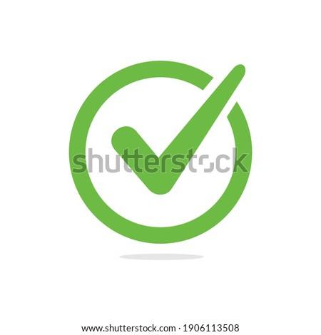 Check mark icon symbols vector. symbol for website computer and mobile vector