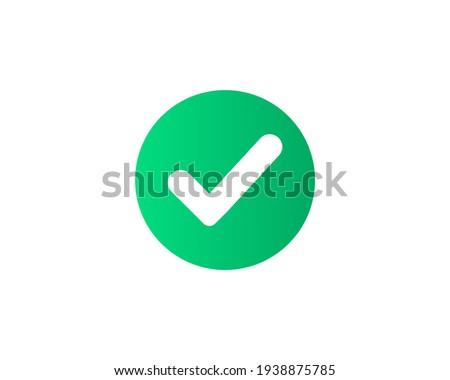 Check mark icon. tick symbol. positive check mark logo flat icon