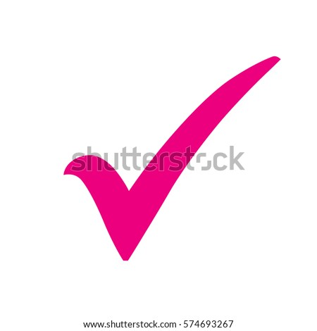 Check mark icon. Tick symbol, vector illustration.
