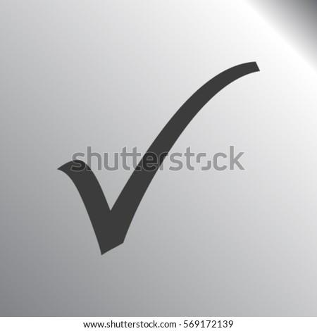 Check mark icon, vector