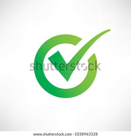 Check mark icon vector design