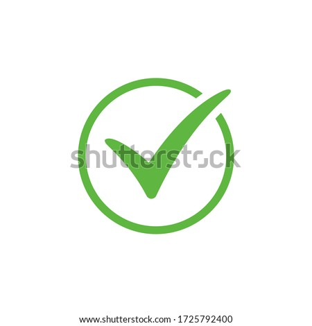 Check mark icon vector design Foto stock ©