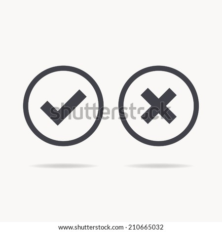 check mark icon , vector illustration