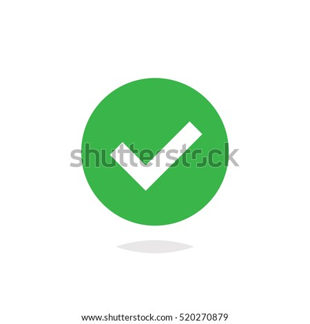 Check mark icon vector isolated