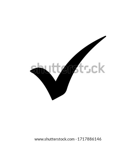 Check Mark icon vector isolated on white background