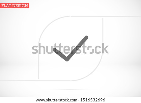 Check mark icon VECTOR. Tick symbol in green color,Check mark icon VECTOR illustration. Check mark icon VECTOR Checklist button  Check mark icon VECTOR