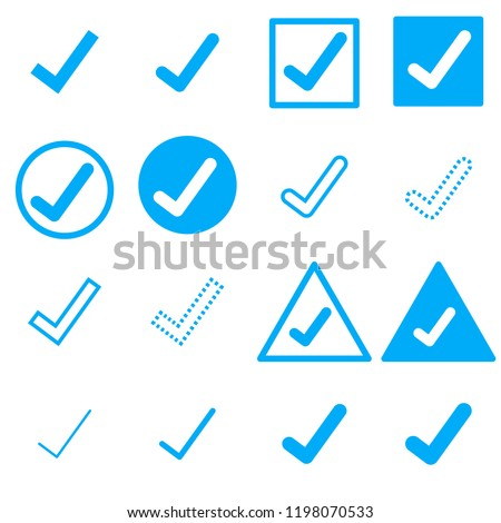 Check mark icons. Vector illustration