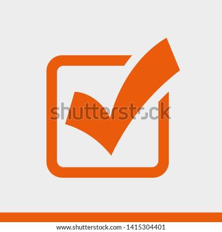 Check Mark Isolated Icon. Checklist button icon. Check mark, tick vector icon. Checkmark Icon Vector. Checklist check mark vector EPS 10