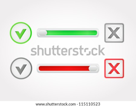 Check mark question buttons. Vector