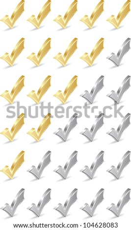 check mark rating - stock vector