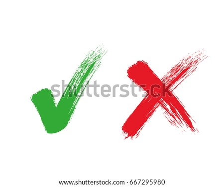 Check mark - stock vector.