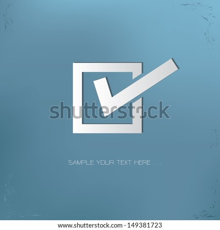 Check mark symbol,vector