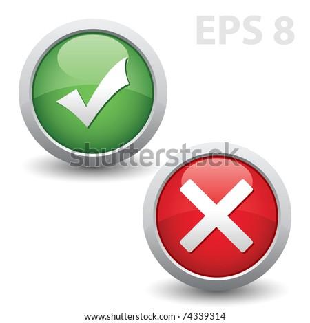 Check mark. Vector EPS version 8.