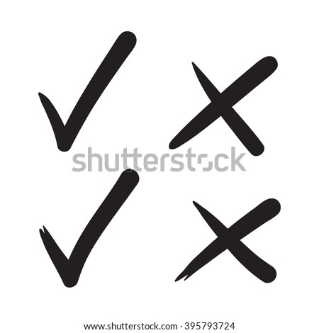 check mark vector hand drawn