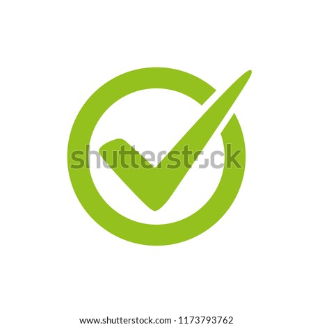 Check mark vector icon
