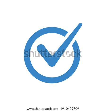Check mark vector icon and sign for your application