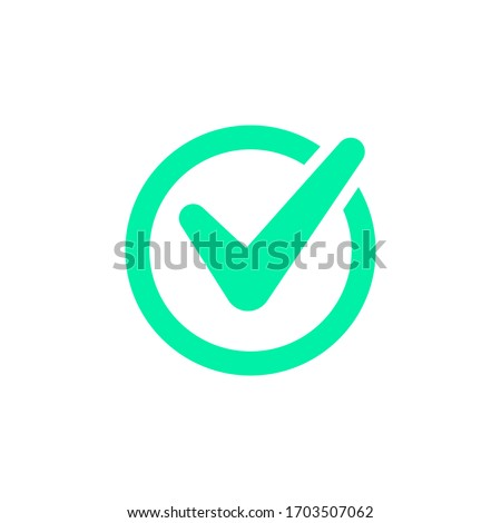 Check mark vector icon or logo. Checkmark isolated on white background
