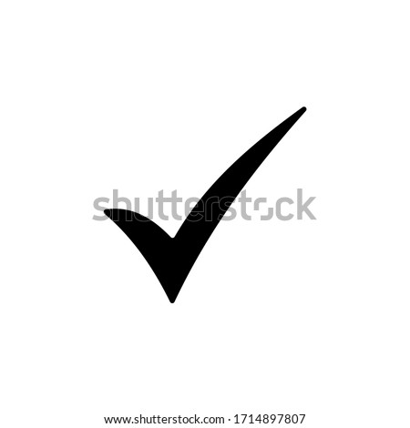 Check mark vector icons. Checklist icon symbol isolated