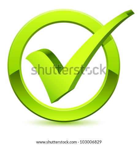 check mark - vector illustration
