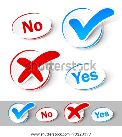 check mark yes and no