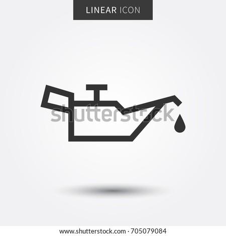 Check motor oil level vector illustration. Car oil level sign graphic design. Engine oil pressure control icon creative concept.