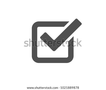 Check simple icon. Approved Tick sign. Confirm, Done or Accept symbol. Quality design elements. Classic style. Vector