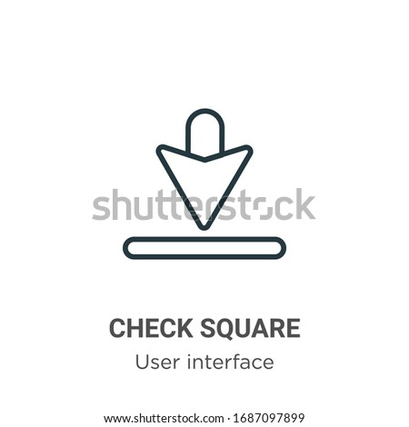 Check square outline vector icon. Thin line black check square icon, flat vector simple element illustration from editable user interface concept isolated stroke on white background