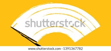 Check Wiper wipers cleans the windshield Car windscreen wipe glass Vector fun funny clean cleans window brush wiper blades arm blade in car removes streaks water drop Repair Wish Rain raining Window