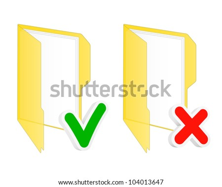 Checkbox folder icons. Vector illustration