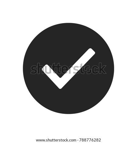 Checked icon vector