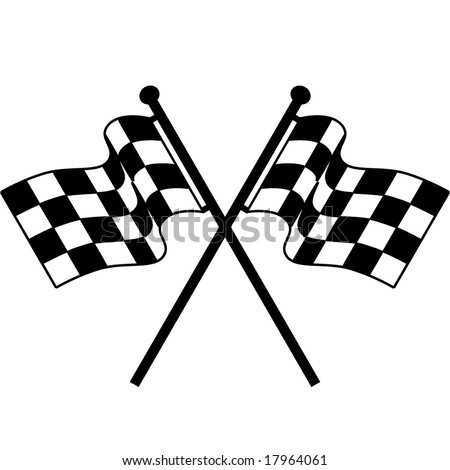 checkered flag - stock vector