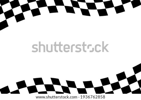 Checkered flag background illustration. Race background. Racing flag vector illustration. flag race background.