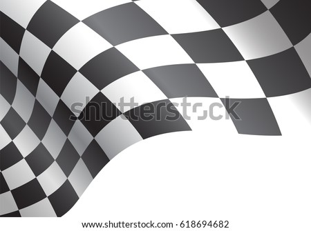 stock-vector-checkered-flag-flying-on-white-background-vector-illustration