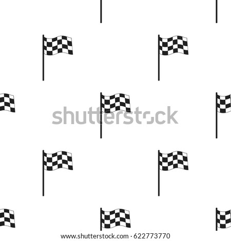 Checkered flag icon black. Single sport icon from the big fitness, healthy, workout black.