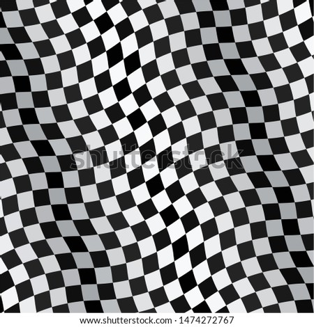 Checkered flag isolated on a white background