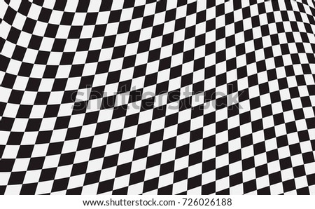 Checkered flag. Racing flag isolated on whit