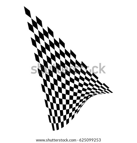 Checkered flag. Racing flag isolated on white. #625099253