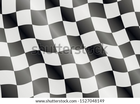 Checkered flag texture for auto racing and motorcycle racing. Black and white checkered wavy pattern.