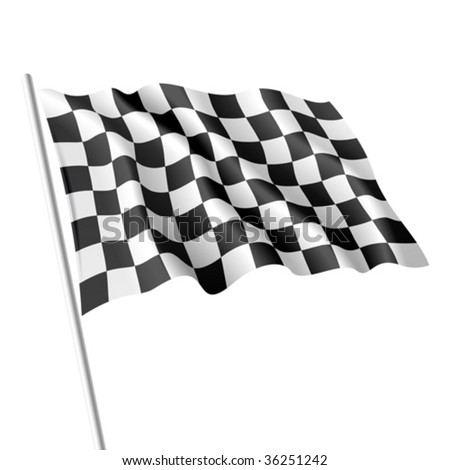 Checkered flag. Vector.