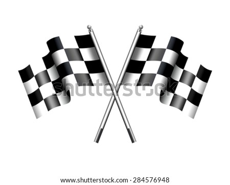 checkered flags motor racing