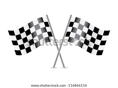 checkered flags  racing flags