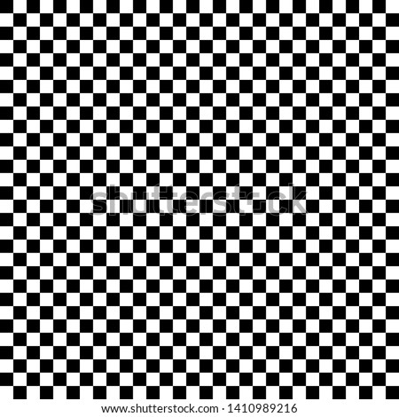 Checkered geometric vector background with black and white tile. Chess board. Racing flag pattern, texture