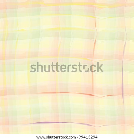 Checkered grunge watercolor seamless pattern - stock vector