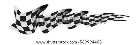 checkered race flag vector