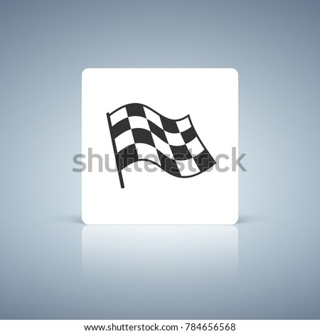 Checkered racing flag icon. Vector illustration