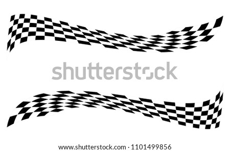 Checkered Racing flag isolated on white. #1101499856