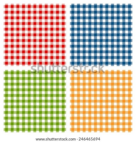 checkered tablecloth seamless