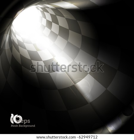 Checkered tunnel, eps10
