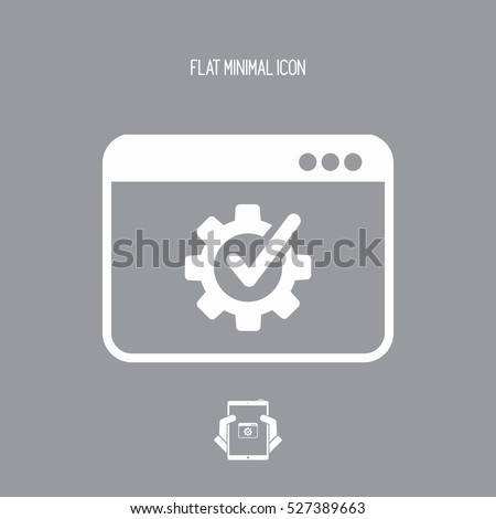 Checking computer performance icon